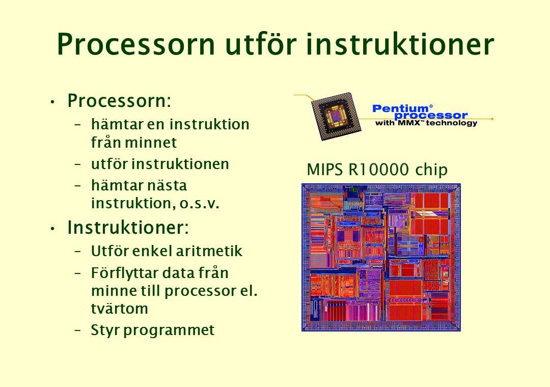 Processorn utför instruktioner