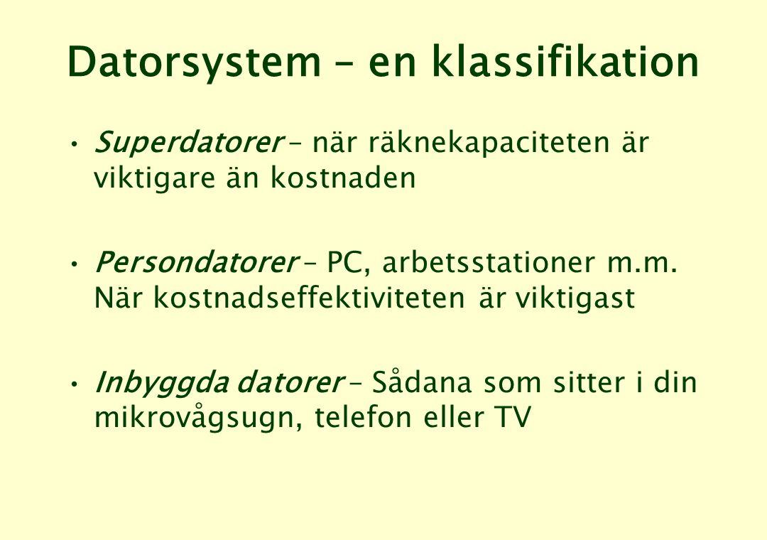 Datorsystem – en klassifikation