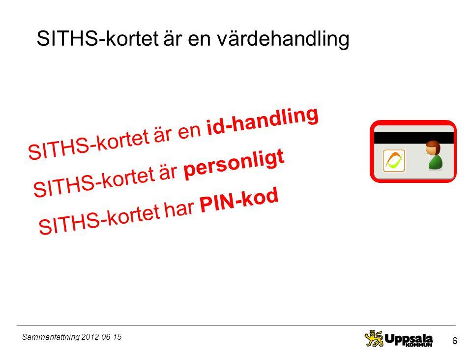 SITHS-kortet är en värdehandling