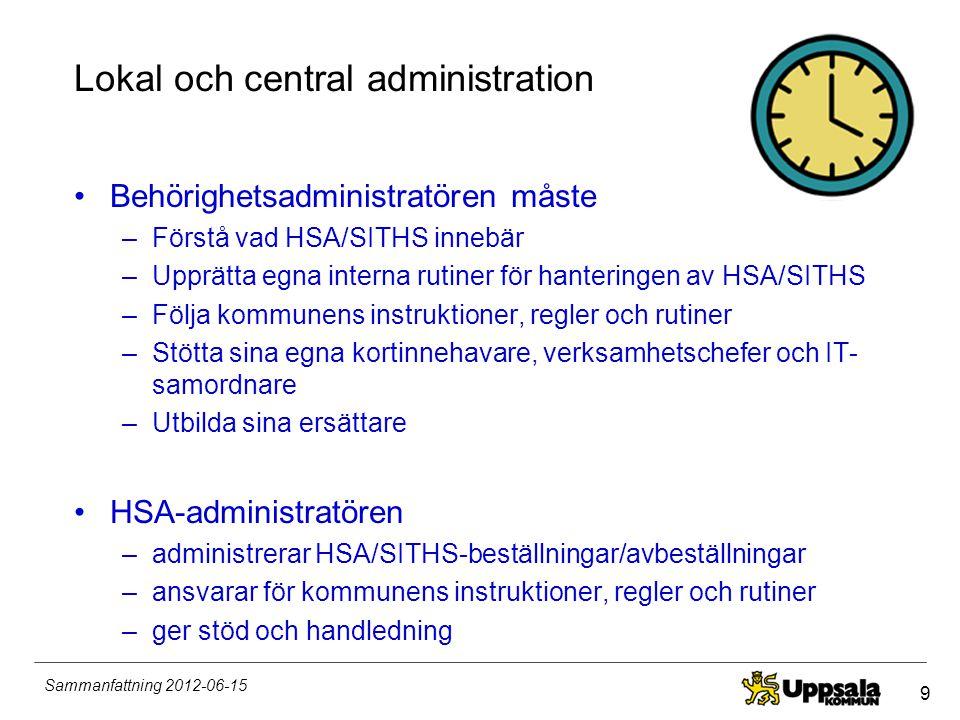 Lokal och central administration