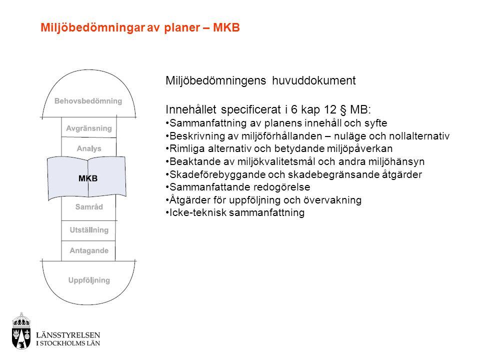 Miljöbedömningar av planer – MKB