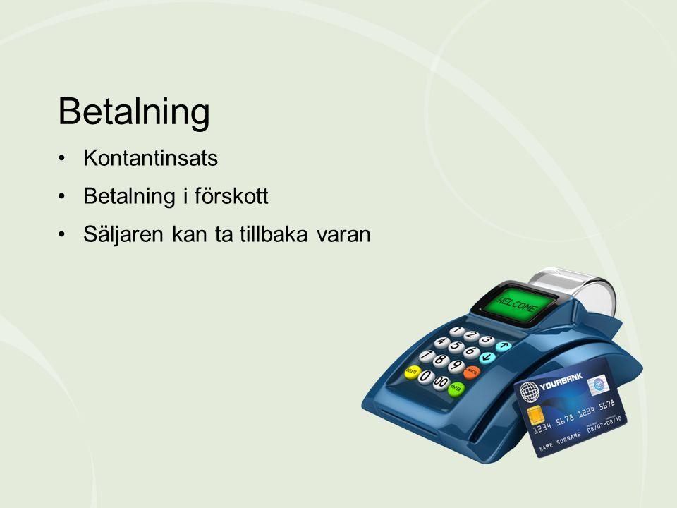 Betalning Kontantinsats Betalning i förskott