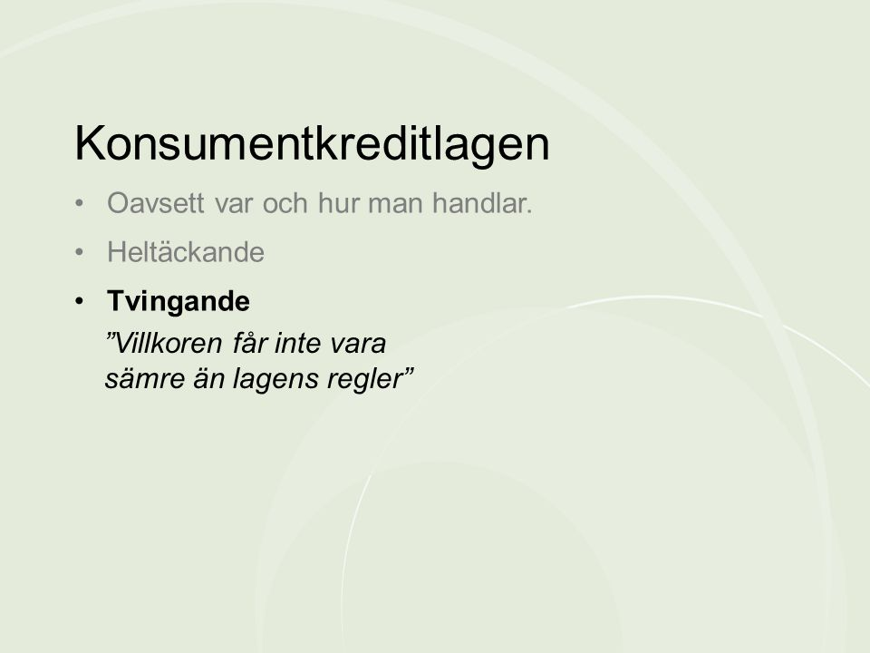 Konsumentkreditlagen
