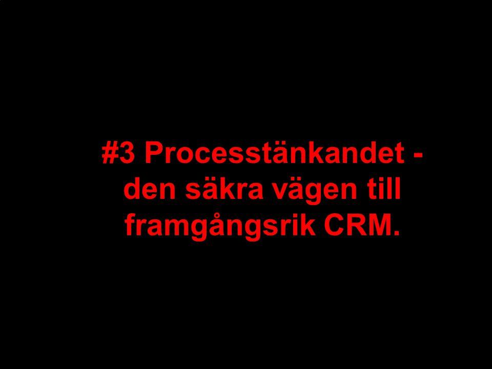 #3 Processtänkandet - den säkra vägen till framgångsrik CRM.