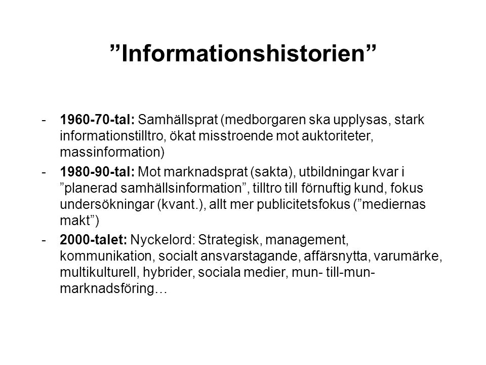 Informationshistorien