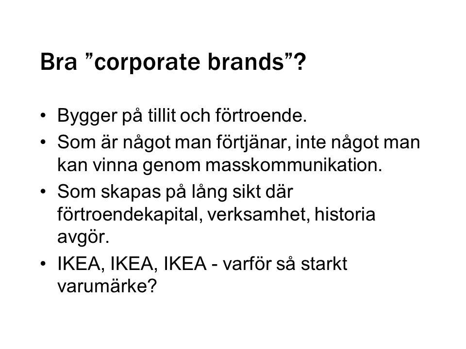 Bra corporate brands