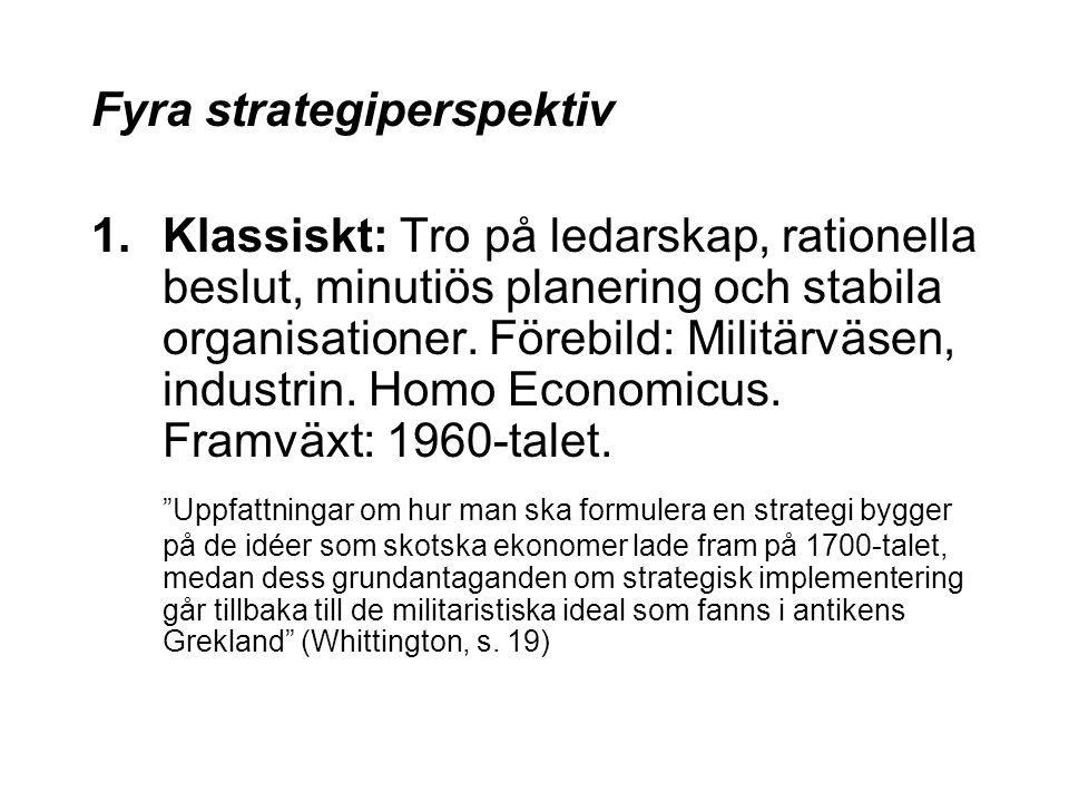 Fyra strategiperspektiv
