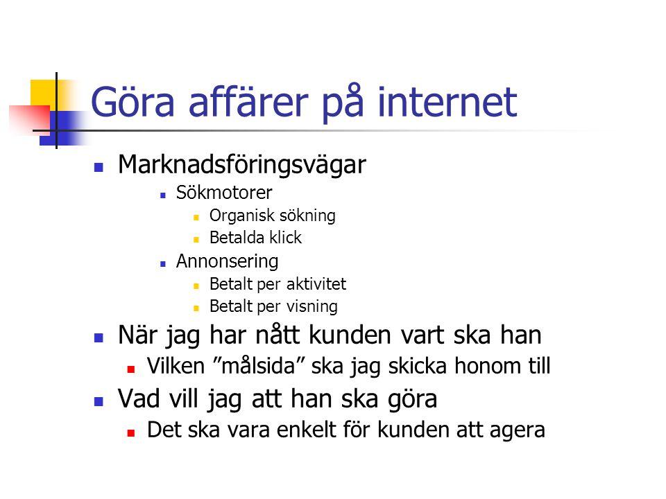 Göra affärer på internet