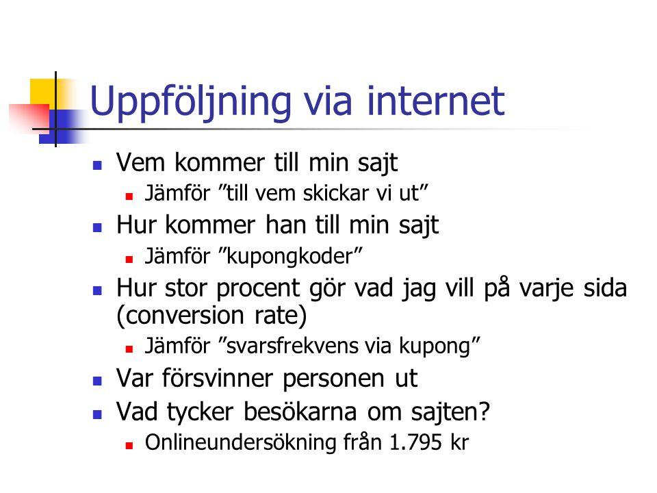 Uppföljning via internet