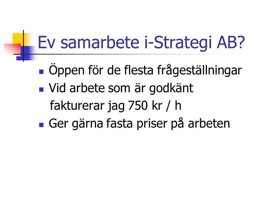 Ev samarbete i-Strategi AB