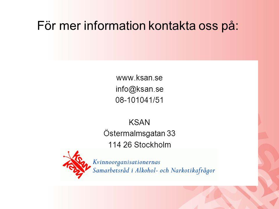 För mer information kontakta oss på: