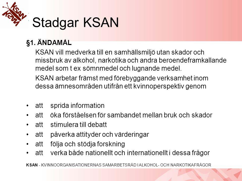 Stadgar KSAN §1. ÄNDAMÅL.