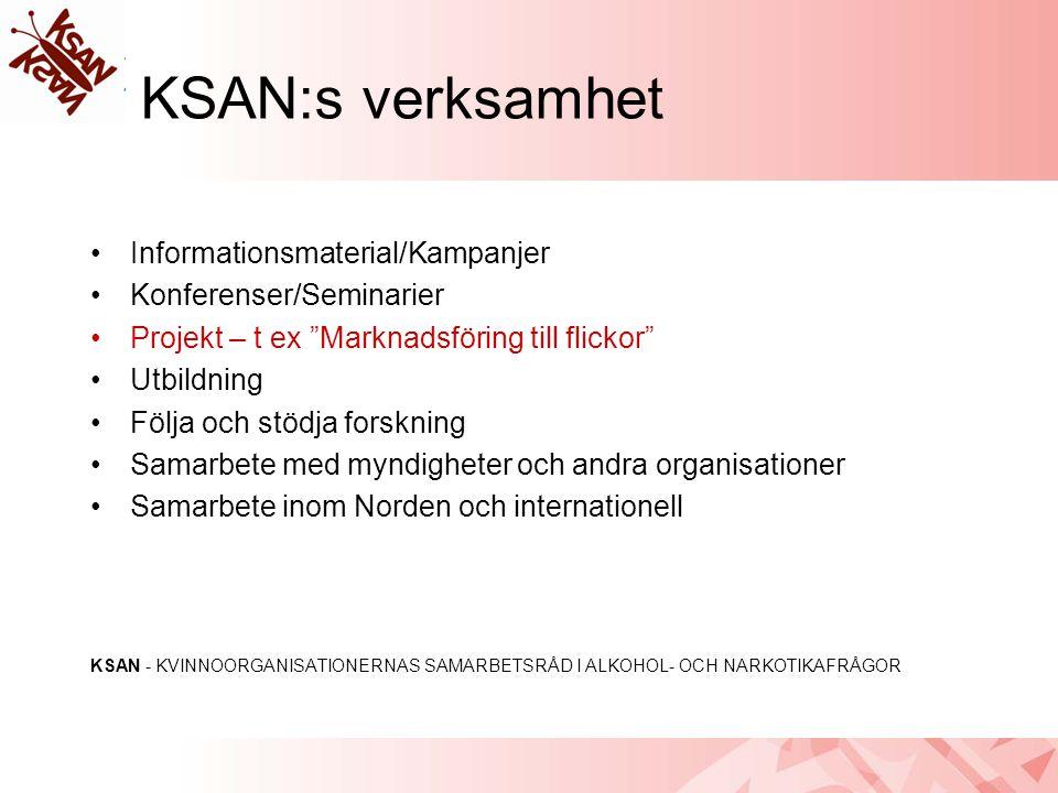 KSAN:s verksamhet Informationsmaterial/Kampanjer