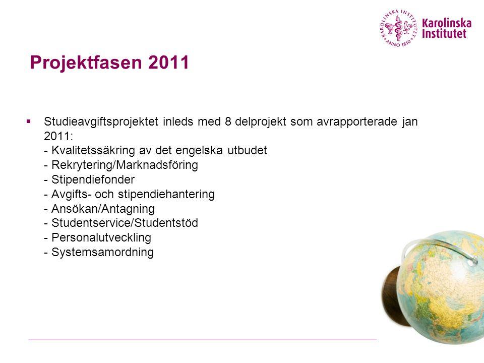 Projektfasen 2011
