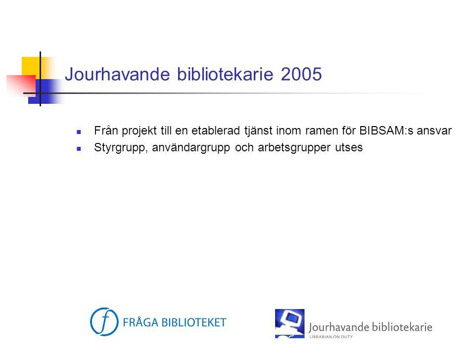 Jourhavande bibliotekarie 2005