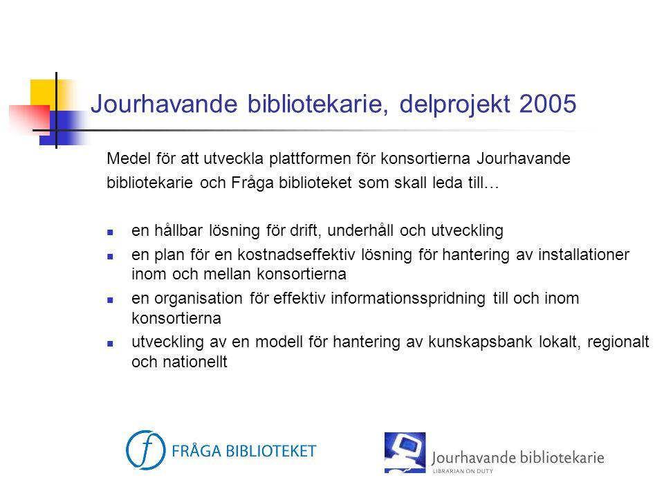 Jourhavande bibliotekarie, delprojekt 2005