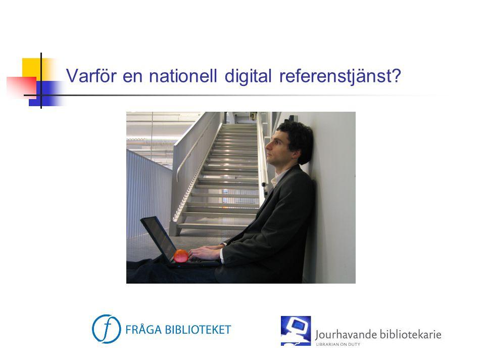 Varför en nationell digital referenstjänst