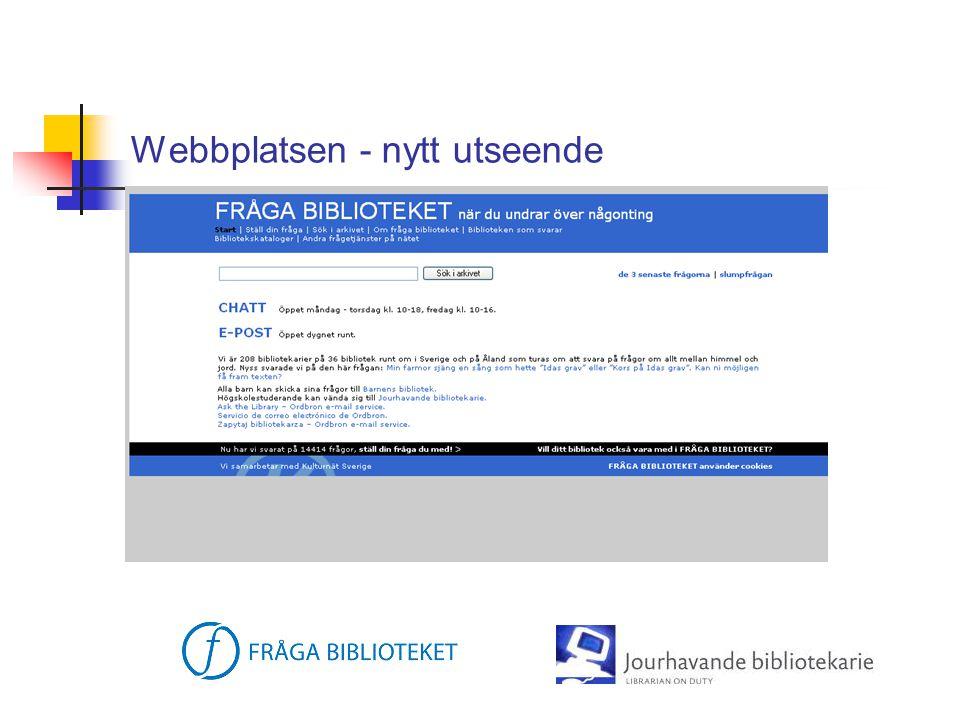 Webbplatsen - nytt utseende