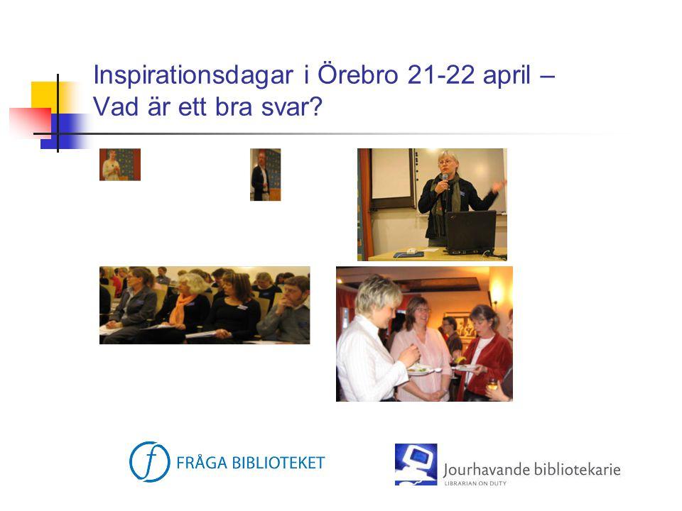 Inspirationsdagar i Örebro 21-22 april – Vad är ett bra svar