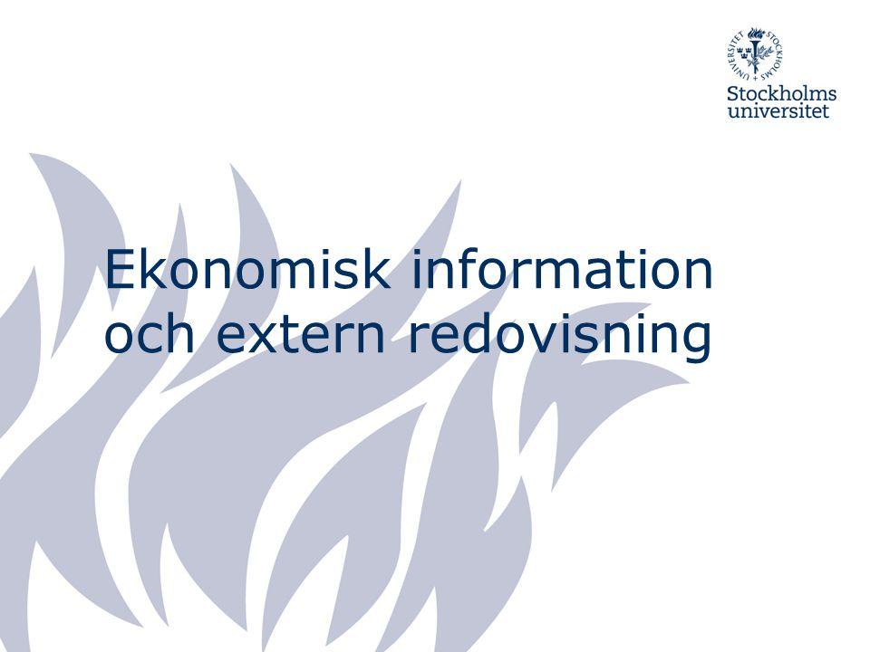Ekonomisk information och extern redovisning