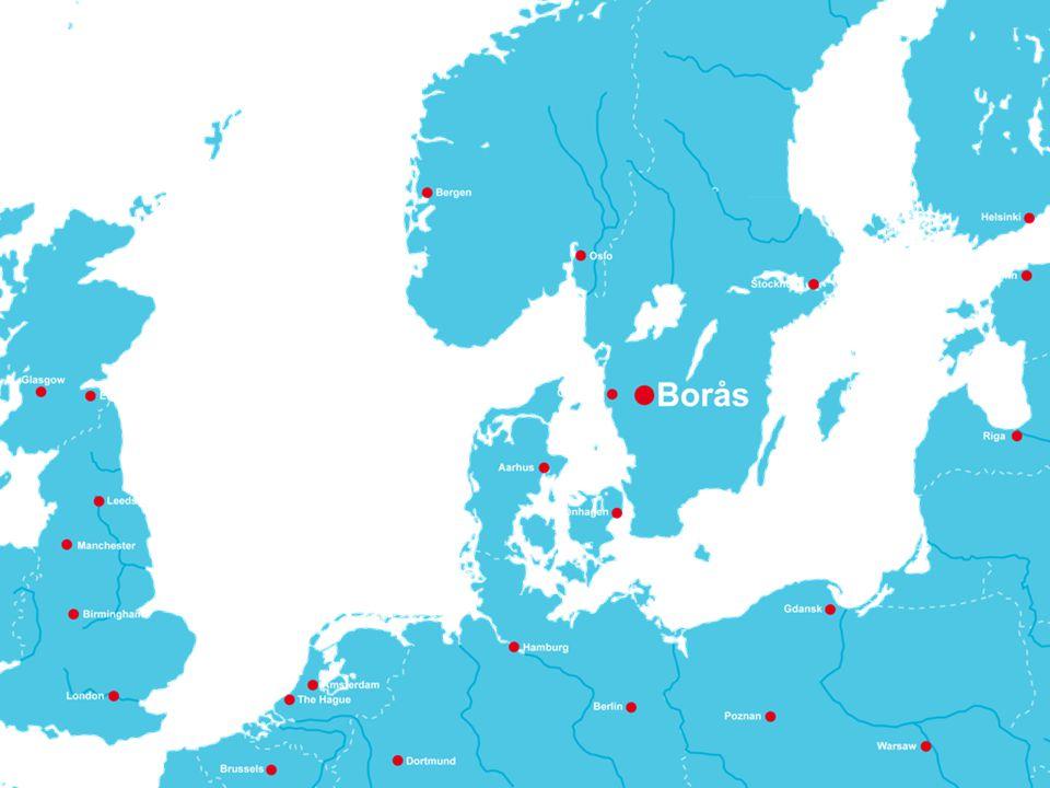 Borås ligger i en folktät region i Västsverige.