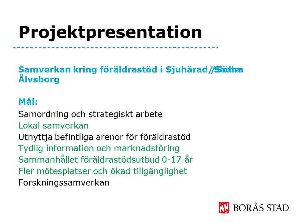 Projektpresentation Samverkan kring föräldrastöd i Sjuhärad/Södra