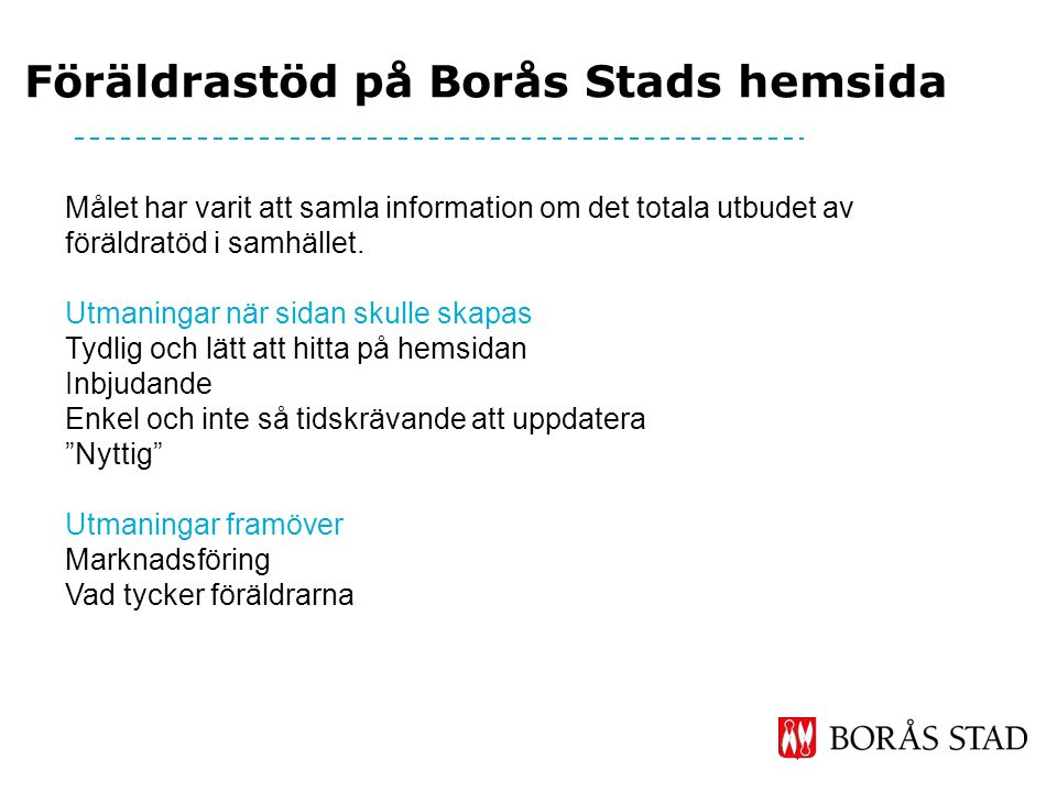 Föräldrastöd på Borås Stads hemsida