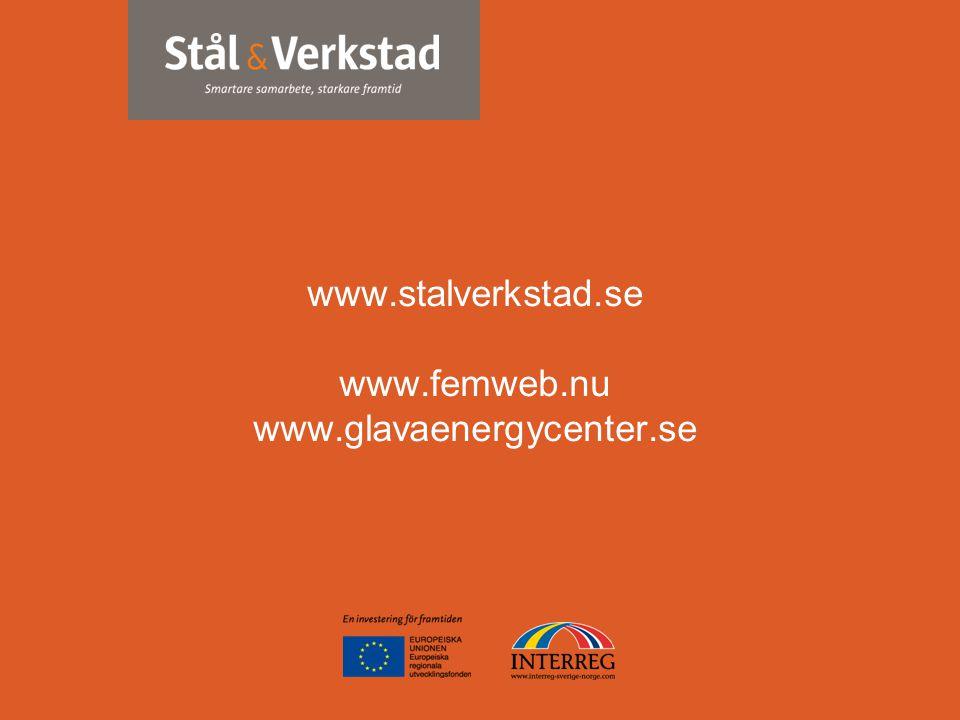 www.stalverkstad.se www.femweb.nu www.glavaenergycenter.se