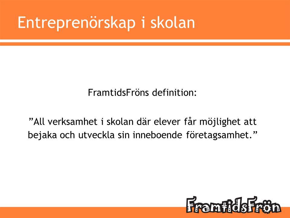 Entreprenörskap i skolan