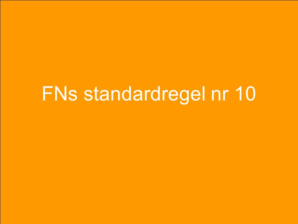 FNs standardregel nr 10 FN