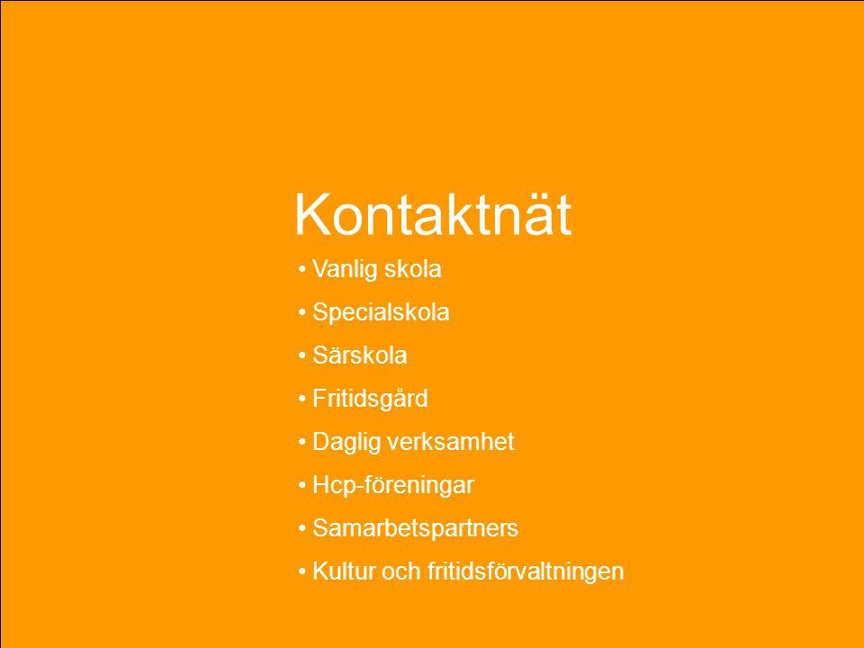 Kontaktnät kontaktnät Vanlig skola Specialskola Särskola Fritidsgård