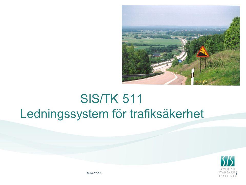 SIS/TK 511 Ledningssystem för trafiksäkerhet