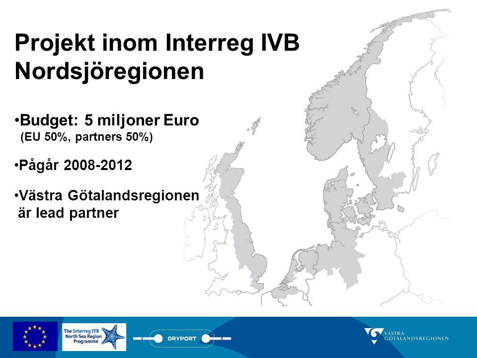 Projekt inom Interreg IVB Nordsjöregionen