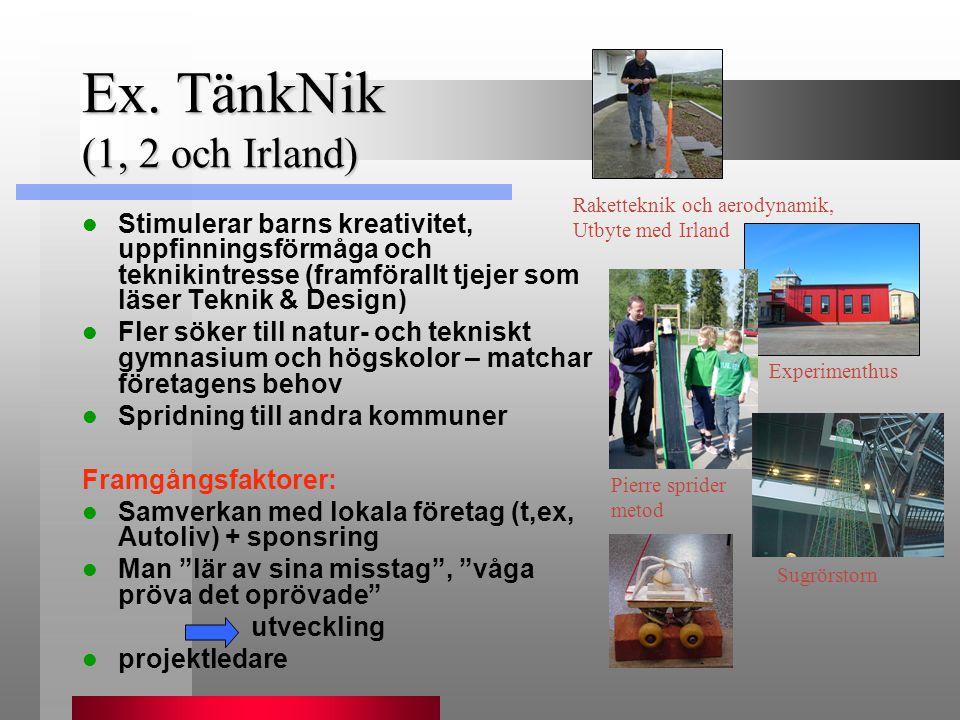 Ex. TänkNik (1, 2 och Irland)