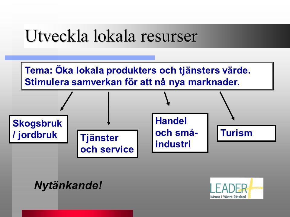 Utveckla lokala resurser