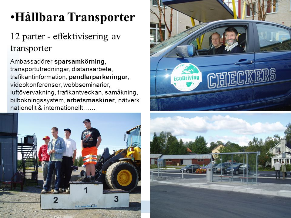 Hållbara Transporter 12 parter - effektivisering av transporter