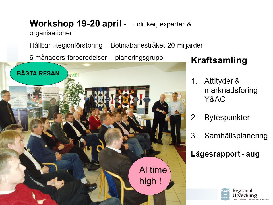 Workshop 19-20 april - Politiker, experter & organisationer