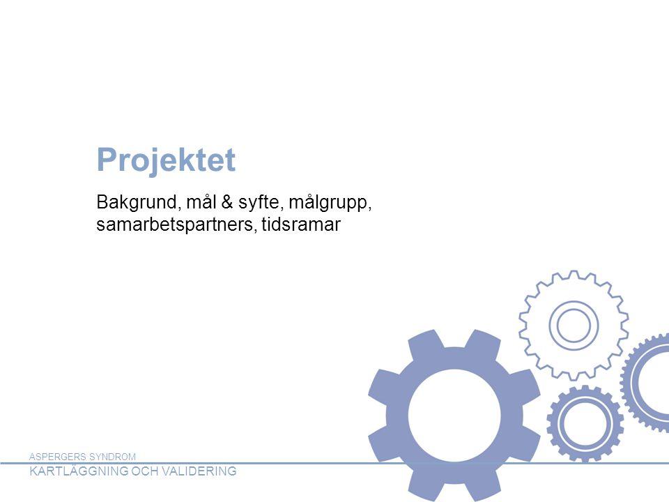 Bakgrund, mål & syfte, målgrupp, samarbetspartners, tidsramar