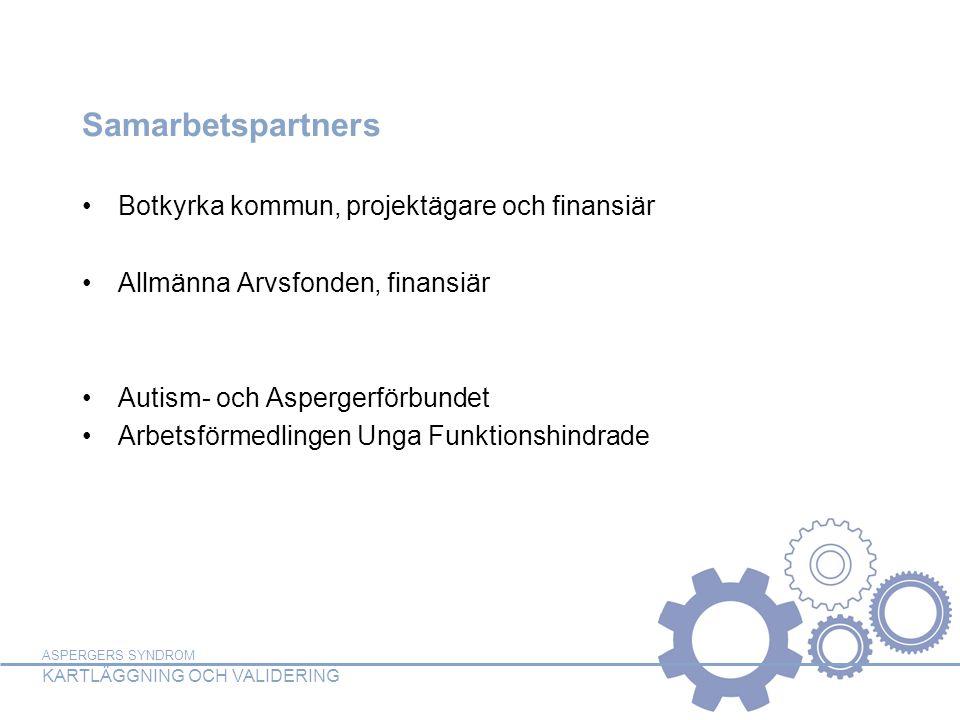 Samarbetspartners Botkyrka kommun, projektägare och finansiär