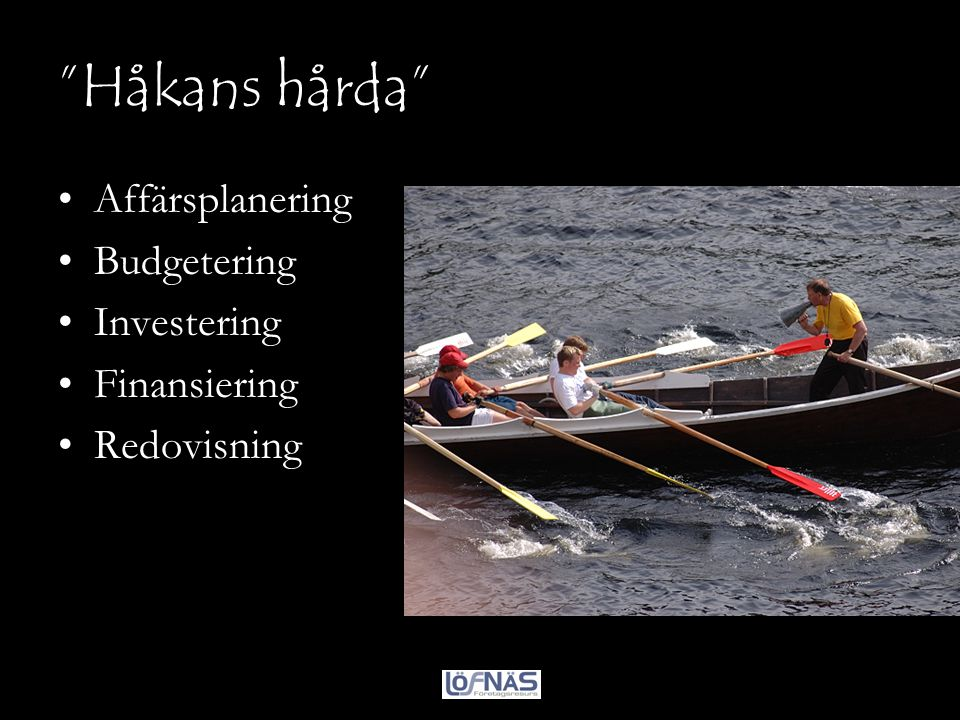 Håkans hårda Affärsplanering Budgetering Investering Finansiering