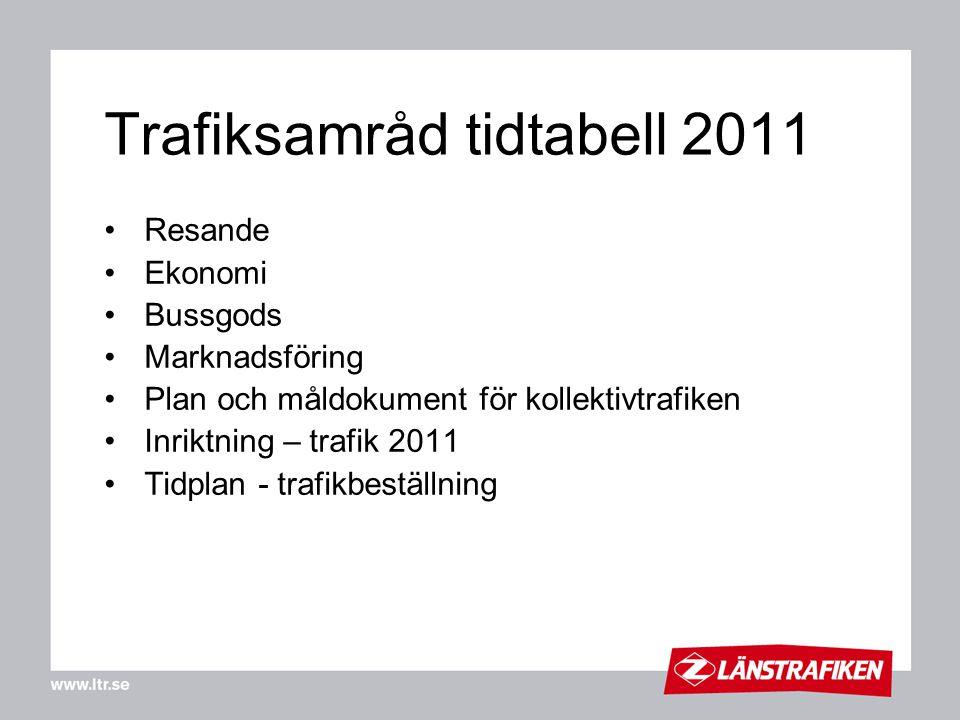 Trafiksamråd tidtabell 2011