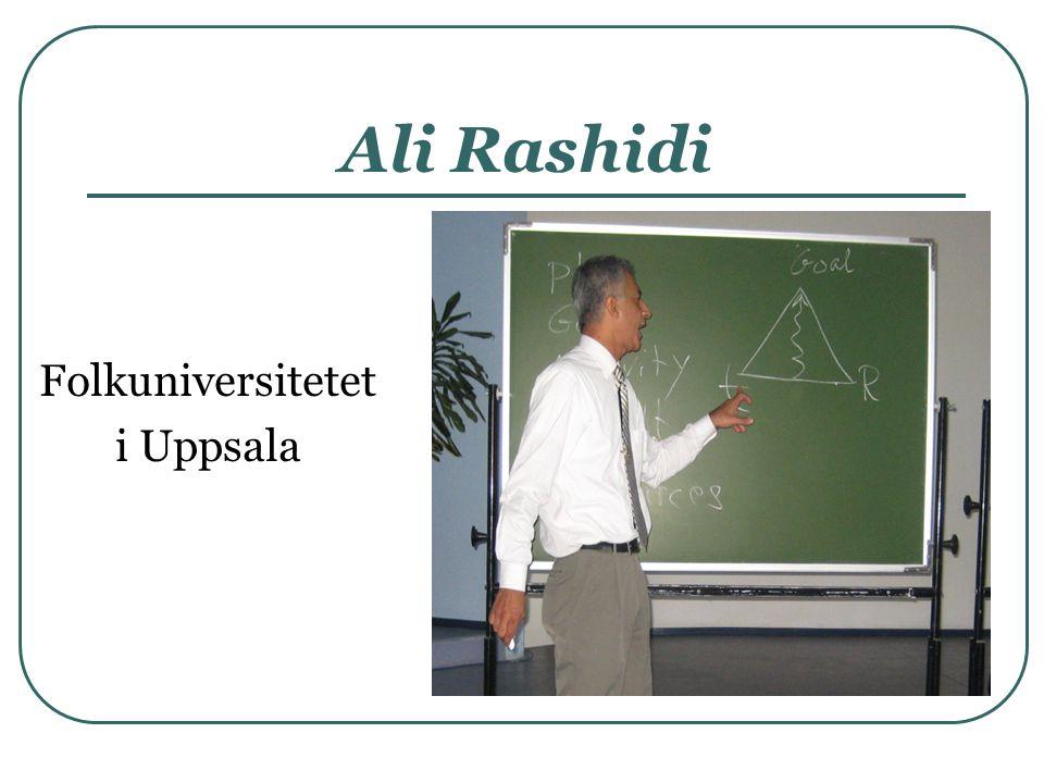 Ali Rashidi Folkuniversitetet i Uppsala