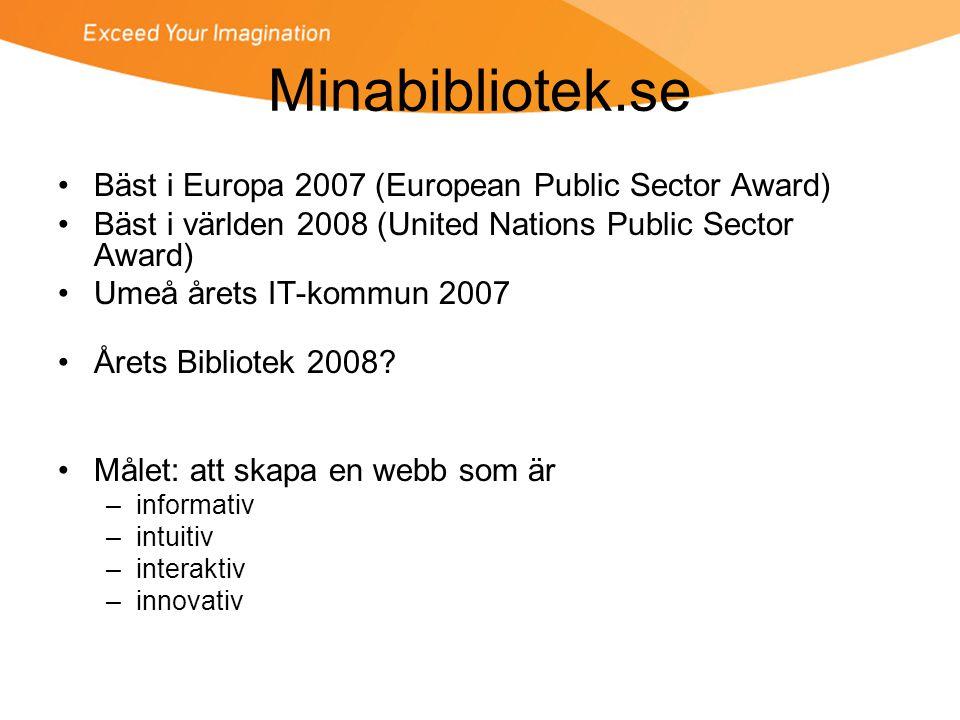 Minabibliotek.se Bäst i Europa 2007 (European Public Sector Award)