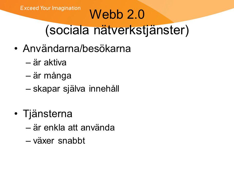 Webb 2.0 (sociala nätverkstjänster)