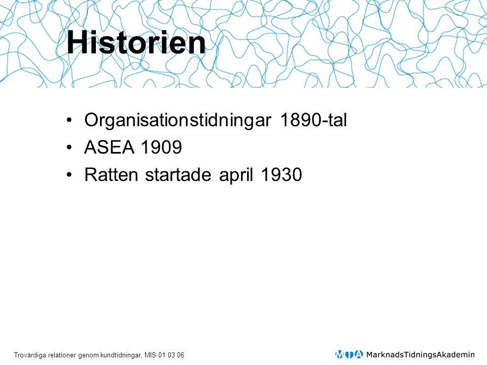 Historien Organisationstidningar 1890-tal ASEA 1909