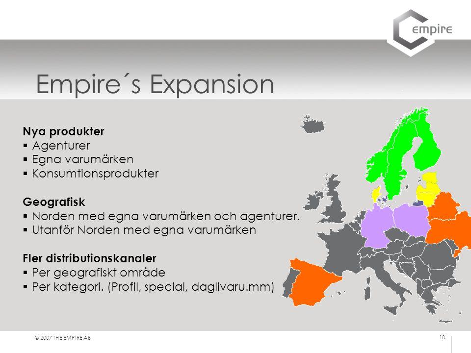 Empire´s Expansion Nya produkter Agenturer Egna varumärken