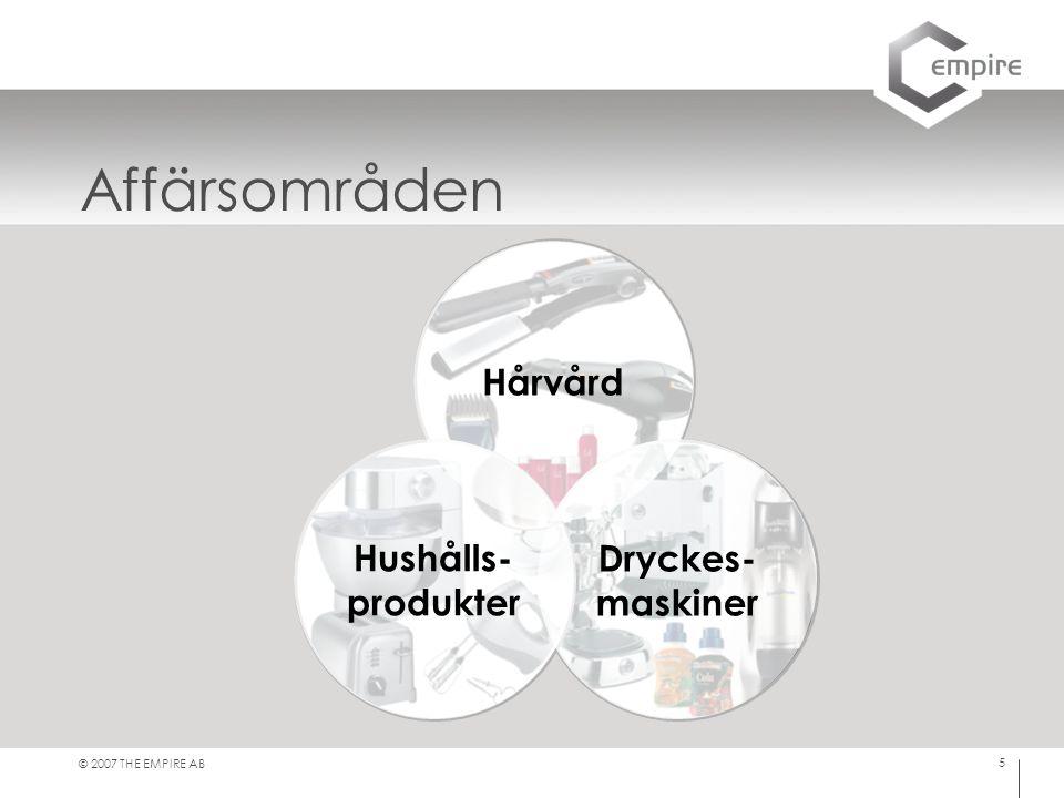 Affärsområden Hårvård Hushålls- produkter Dryckes- maskiner