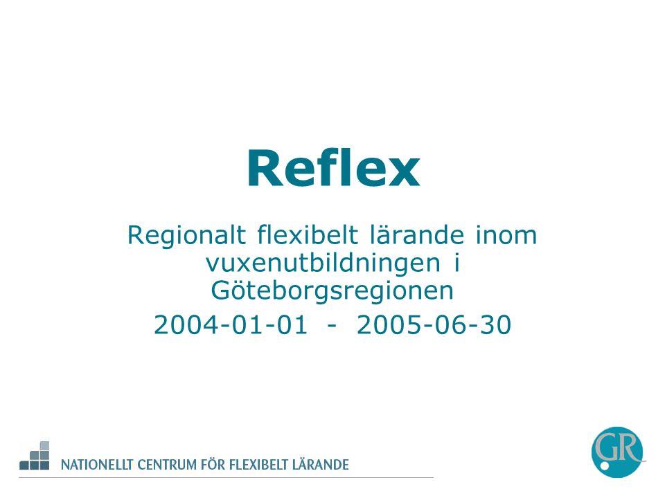 Regionalt flexibelt lärande inom vuxenutbildningen i Göteborgsregionen