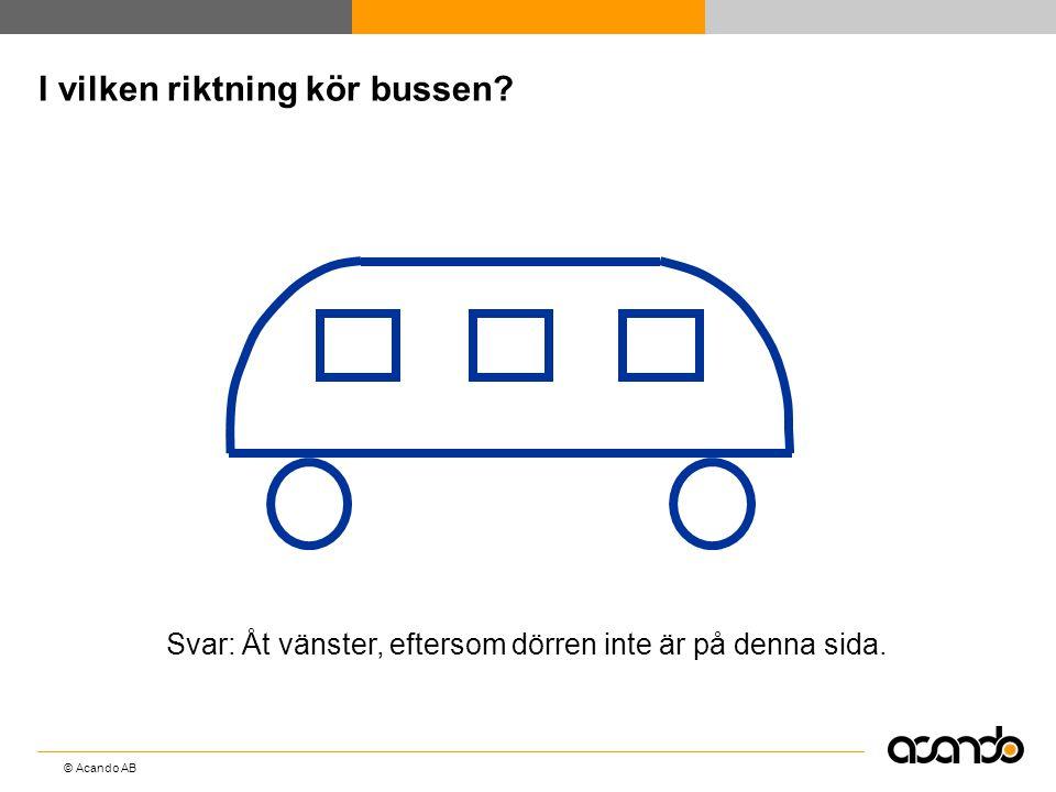 I vilken riktning kör bussen