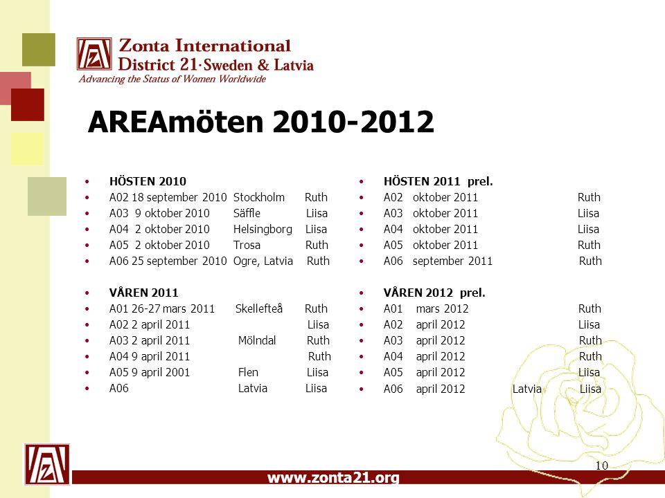 AREAmöten 2010-2012 HÖSTEN 2011 prel. A02 oktober 2011 Ruth